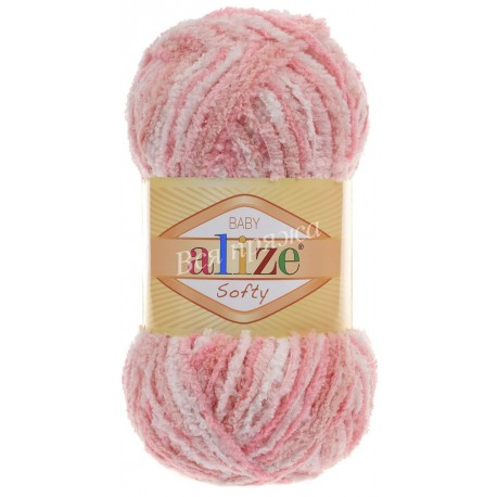 SOFTY Alize 51304 (Бело-розовый)