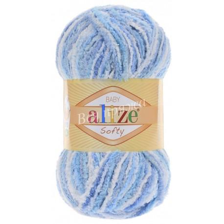 SOFTY Alize 51305 (Бело-голубой)