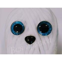 Глазки безопасные для игрушек. 20 мм. Голубой. Пара