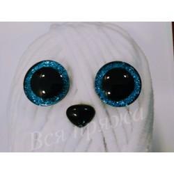 Глазки безопасные для игрушек. 25 мм. Голубой. Пара