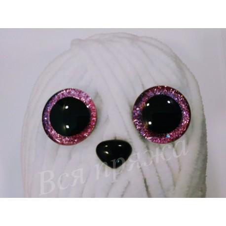 Глазки безопасные для игрушек. 25 мм. Розовый. Пара