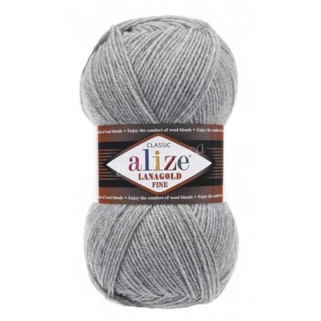 LANAGOLD FINE Alize 21 (Серый меланж)