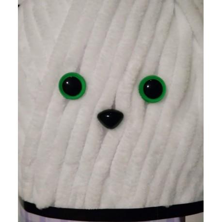 Глазки безопасные для игрушек 10 мм. Зеленый. Пара.