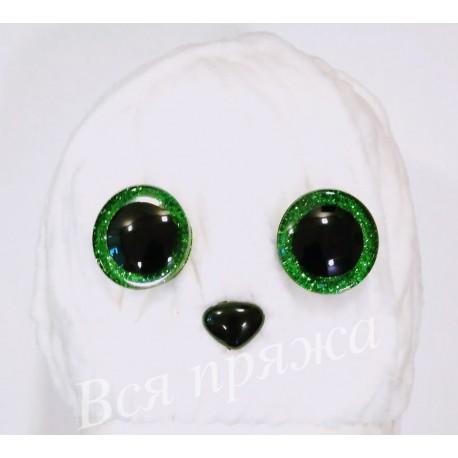Глазки безопасные для игрушек. 25 мм. Зеленый. Пара