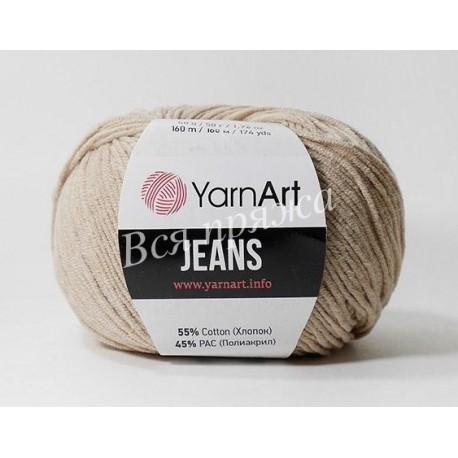 JEANS YarnArt 87 (Светлый беж)