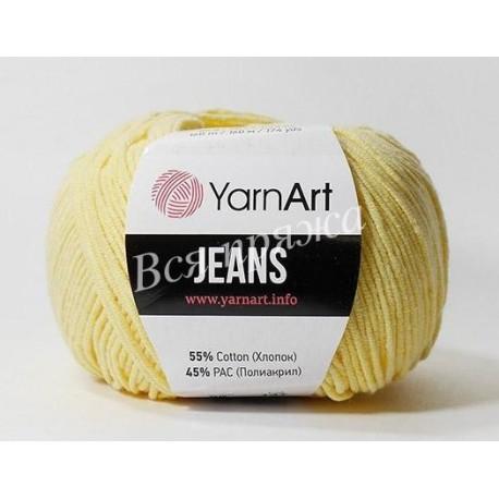 JEANS YarnArt 88 (Светло-желтый)