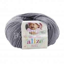 BABY WOOL Alize 119 (Серое небо)