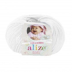 BABY WOOL Alize 55 (Белый)