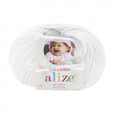 BABY WOOL Alize 55 (Белый)