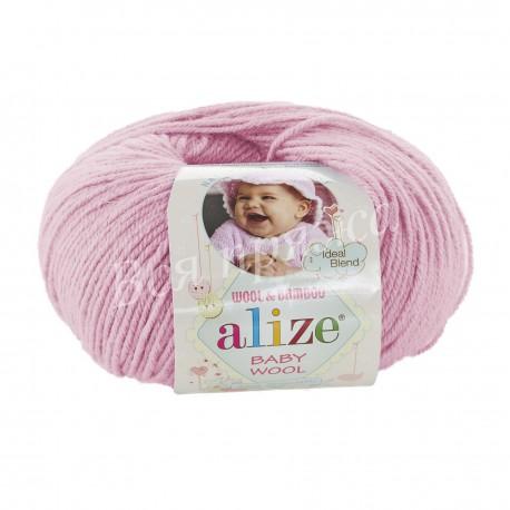 BABY WOOL Alize 185 (Светло-розовый)