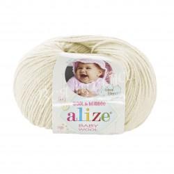 BABY WOOL Alize 01 (Кремовый)