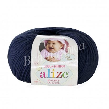 BABY WOOL Alize 58 (Темно-синий)
