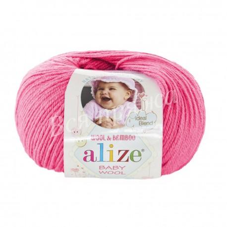 BABY WOOL Alize 33 (Темно-розовый)