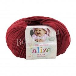 BABY WOOL Alize 106 (Темно-красный)