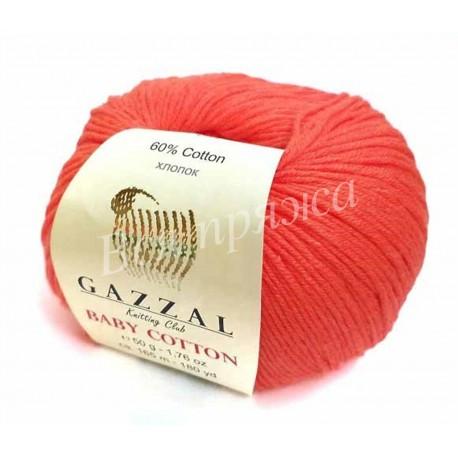 BABY COTTON Gazzal 3459 (Яркий коралл)