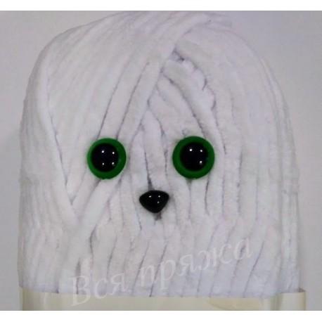 Глазки безопасные для игрушек. 13 мм. Зеленый. Пара