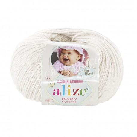 BABY WOOL Alize 62 (Молочный)