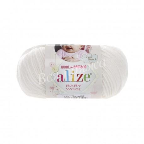 BABY WOOL Alize 450 (Жемчужный) - Снят с производства