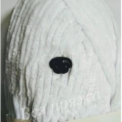 Носик фигурный безопасный для игрушек. 12 х 9 мм. Черный