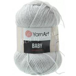 BABY YarnArt 855 (Светлый серый)