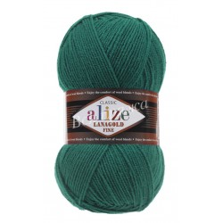 LANAGOLD FINE Alize 507 (Античный зеленый)