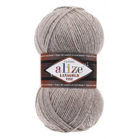 LANAGOLD FINE Alize 207 (Светло-коричневый меланж)