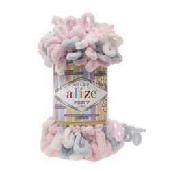 PUFFY COLOR Alize 5864 (Розовый-Серый-Белый)