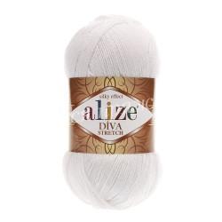 DIVA STRETCN Alize 55 (Белый)