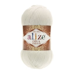 DIVA STRETCH Alize 62 (Молочный)