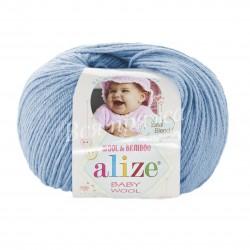 BABY WOOL Alize 350 (Светло-голубой)