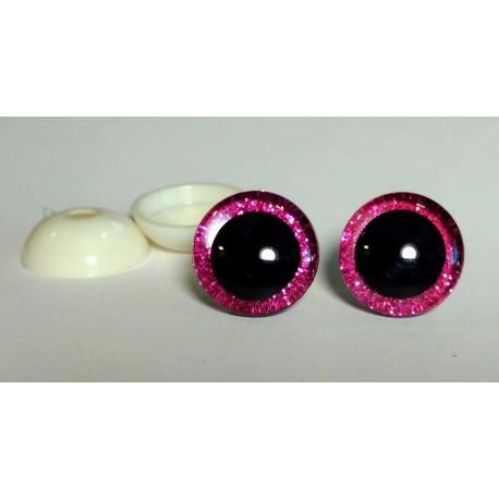 Глазки безопасные для игрушек. 20 мм. Розовый. Пара