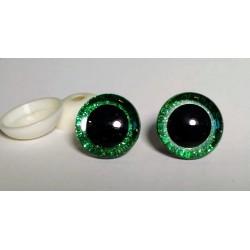 Глазки безопасные для игрушек. 20 мм. Зеленый. Пара