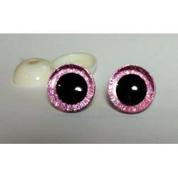 Глазки безопасные для игрушек. 20 мм. Светло-розовый. Пара