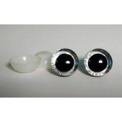 Глазки безопасные для игрушек. 20 мм. Серебро. Пара.