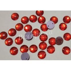 Стразы пришивные. Красный. 10 мм