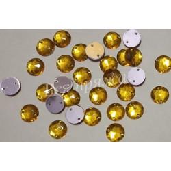Стразы пришивные. Желтый. 10 мм