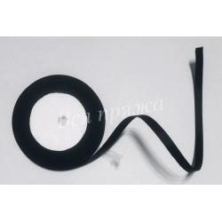 Лента репсовая. 6 мм. Черный. 1 метр