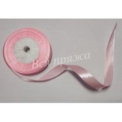 Лента атласная. 12 мм. Светло-розовый. 1 метр