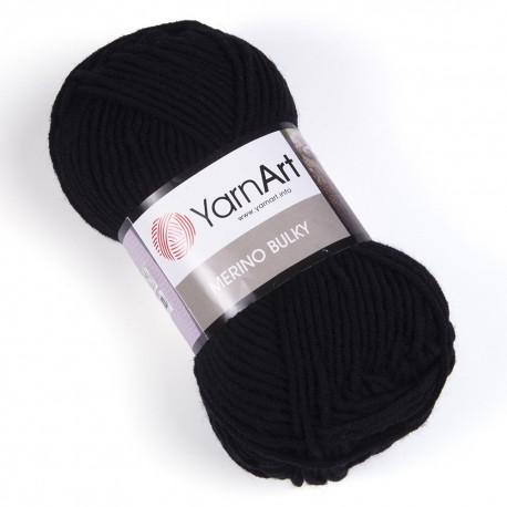 MERINO BULKY YarnArt 585 (Черный)