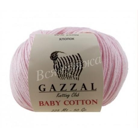 BABY COTTON GAZZAL 3411 (Светло-розовый)