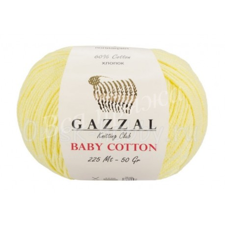 BABY COTTON GAZZAL 3413 (Светло-желтый)