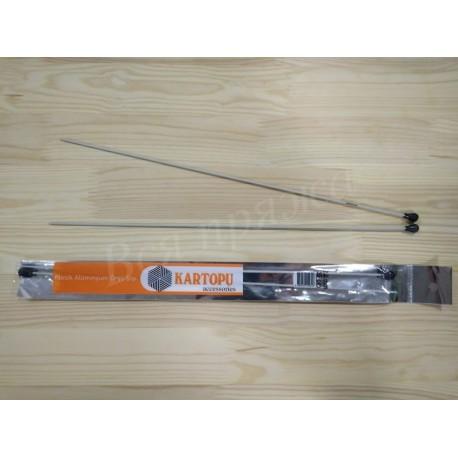 Спицы прямые классические алюминиевые 2 мм. Длина: 35 см.