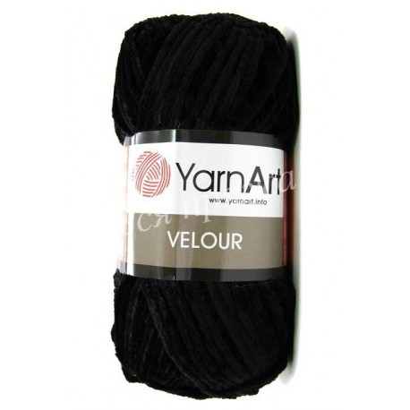 VELOUR YarnArt 842 (Черный)