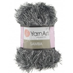 SAMBA YarnArt K-64 (Черный,белый)