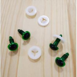 Глазки безопасные для игрушек 10 мм. Голубые. Пара.