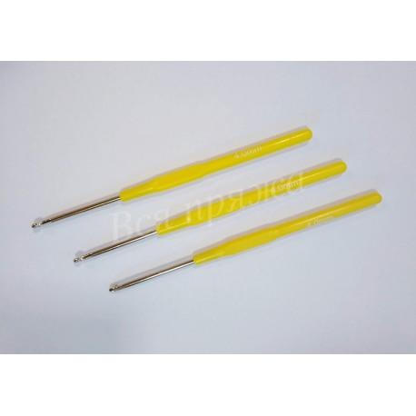 Крючок стальной с пластиковой ручкой № 4