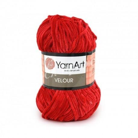 VELOUR YarnArt 846 Красный