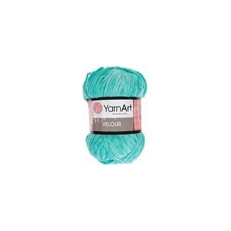 VELOUR YarnArt 864 Бирюза