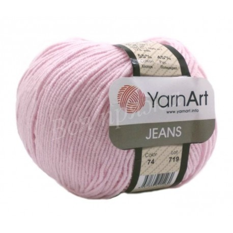 JEANS YarnArt 74 Нежно-розовый