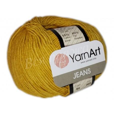 JEANS YarnArt 84 (Горчица)